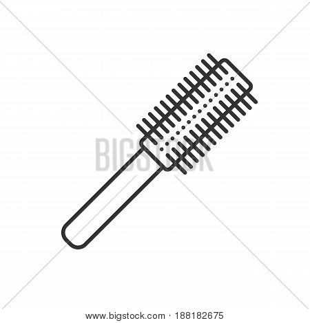 Hair brush linear icon. Thin line illustration. Contour symbol. Vector isolated outline drawing