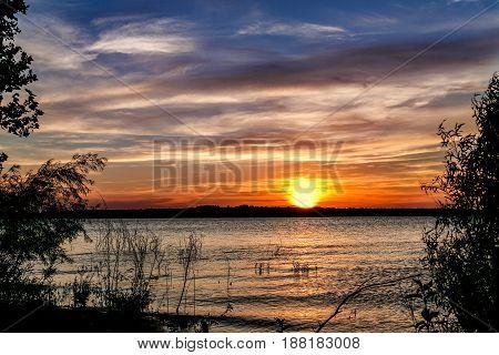 A Beautiful Sunset on an Oklahoma lake.