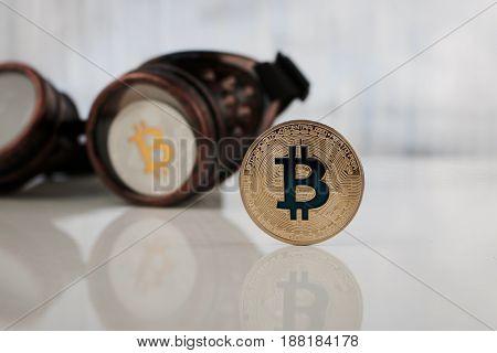 Gold And Silver Bitcoin Coin