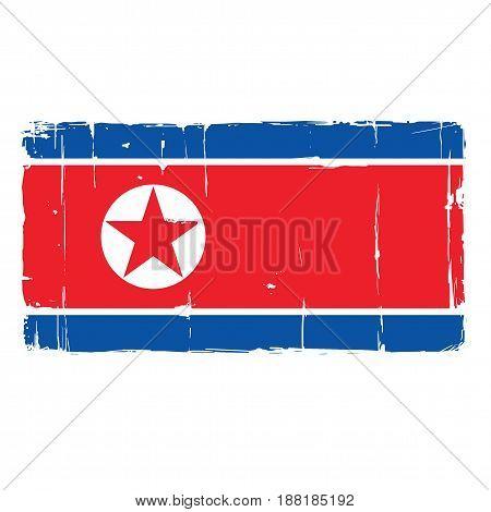 North Korea Flag Vector Design Icon Clipart