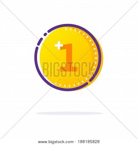 Gold Coin Icon. Line flat Vector sign