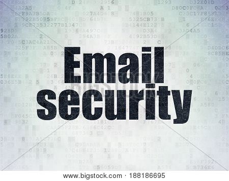 Privacy concept: Painted black word Email Security on Digital Data Paper background