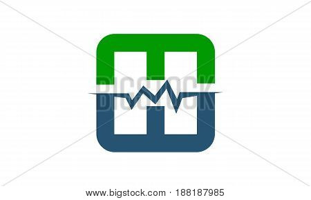 Medical Heartbeat Signal Letter Mw H