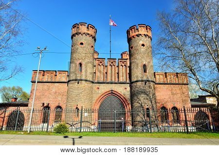 Friedrichsburg Gate - old German Fort in Koenigsberg. Kaliningrad, until 1946 Koenigsberg , Russia
