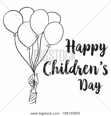 Happy children day design collection vector art