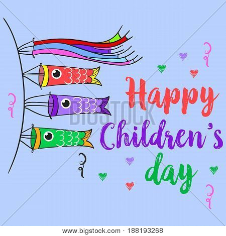 Happy children day theme style collection vector art