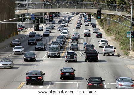 Traffic in Santa Monica, California