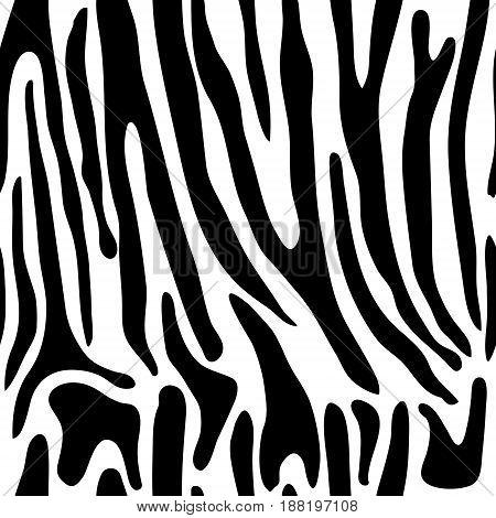 Animal print, zebra texture black and white colors.