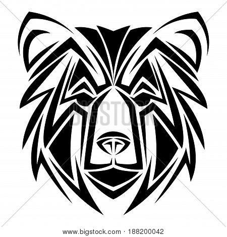 bear tribal tatto animal creativity design vector illustraiton