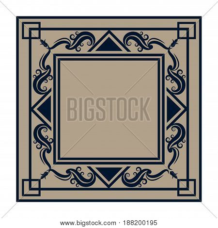 frame elements and page decoration classical antique vector illustraiton