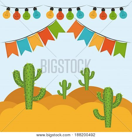 colorful background with festive decoration outdoor vector illustration