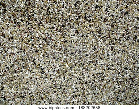 Grained wall. Tiny grains. Small grains. Granulated wall