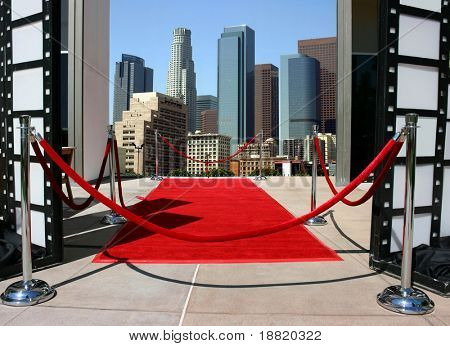 Red carpet event in Los Angeles downtown