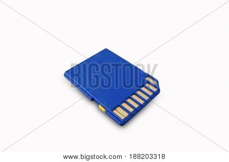 Memory card for digital file Save on white background