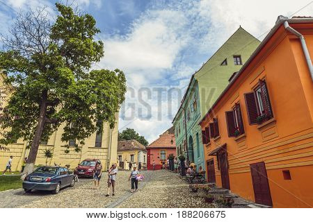 Sighisoara Citadel Cityscape, Romania