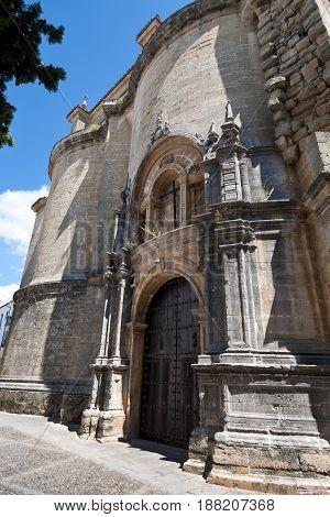 Gate of Santa Maria la Mayor Church, Ronda, Malaga, Andalusia, Spain