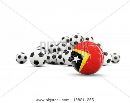 Football With Flag Of East Timor Isolated On White