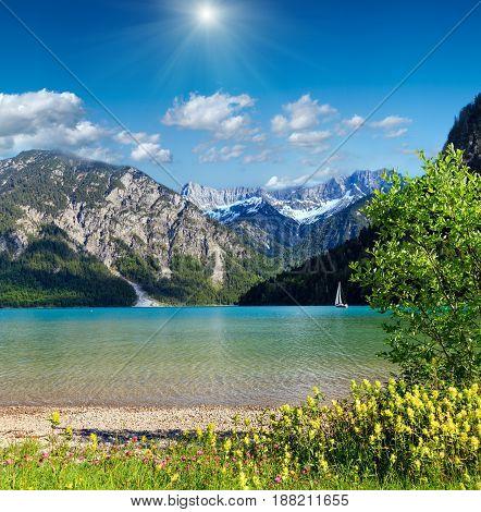 Plansee Summer Sunshiny Landscape (austria).