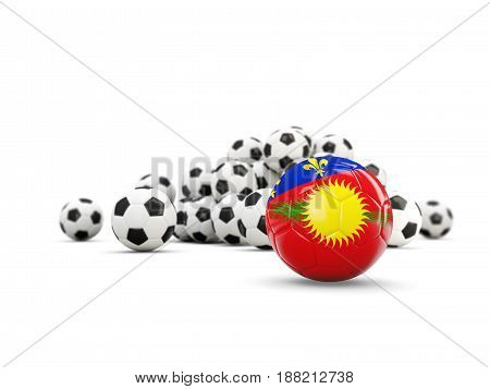 Football With Flag Of Guadeloupe Isolated On White
