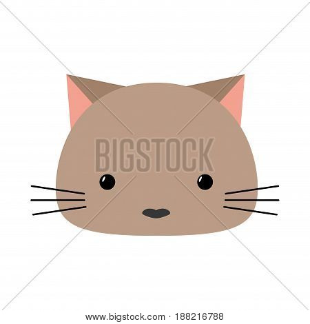 cute kitty icon over white background. vecotor illustration