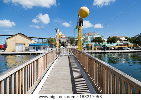 A Small Bridge Across a Curacao Causeway