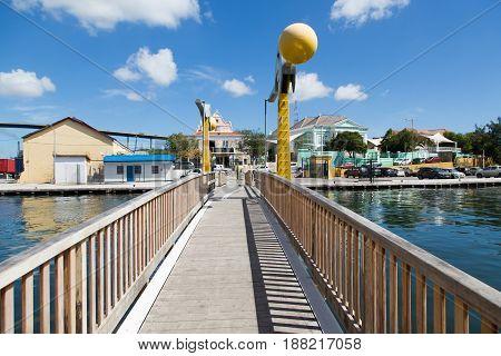 A Small Bridge Across a Curacao Causeway
