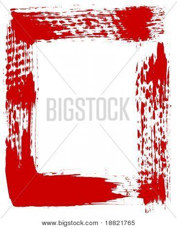 Red brushed frame