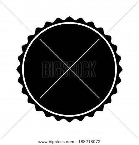 black label frame decoration sign icon vector illustration