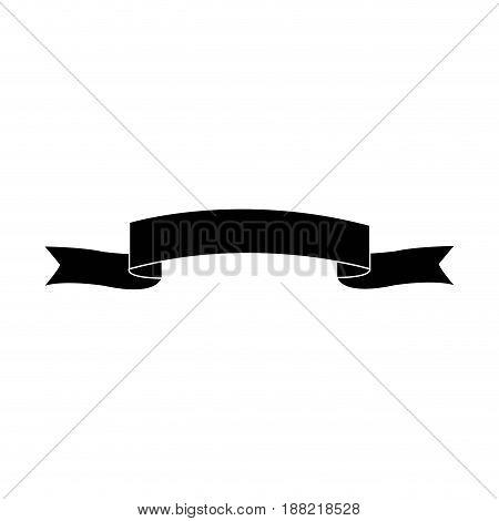black ribbon banner decoration ornament vector illustration