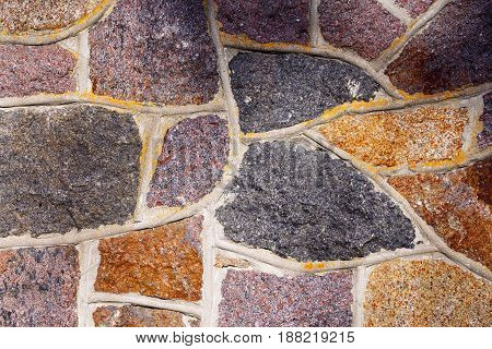 Old Stone Wall Rustic Texture Background.
