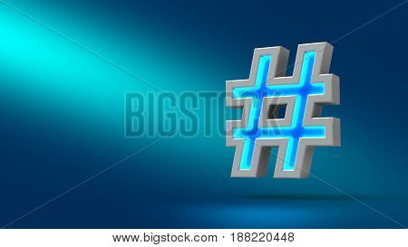 Hashtag 3D Sign