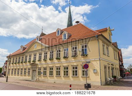 UELZEN, GERMANY - MAY 21, 2017: Historic town hall in the center of Uelzen, Germany