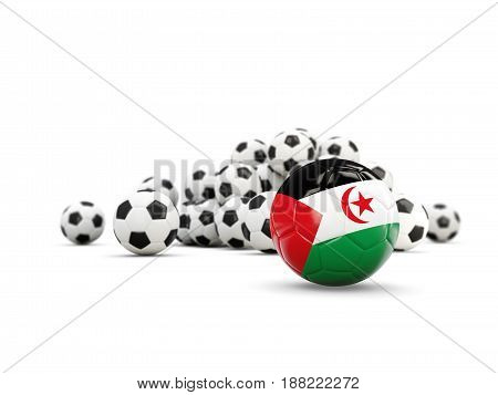 Football With Flag Of Western Sahara Isolated On White