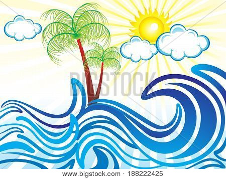 abstract artistic summer holiday background vector illustration