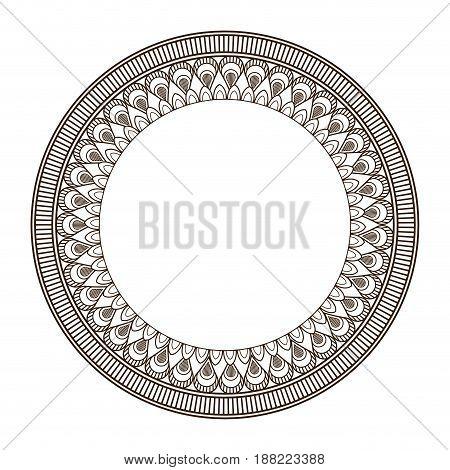 round frame and decorative vintage design element vector illustration