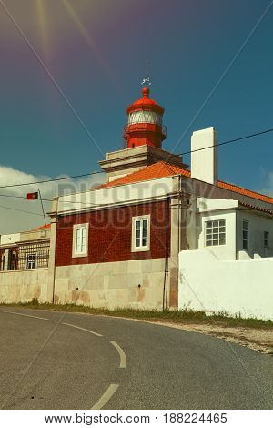 Lighthouse Portugal. Cabo da Roca is the most westerly point of the Europe mainland