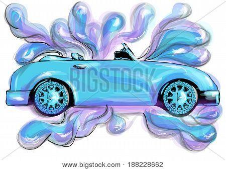 car wash. abstract vector illustration of car-wash service