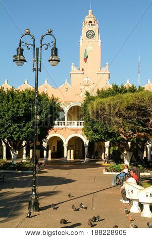 The Town Hall At Merida, Mexico