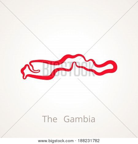 The Gambia - Outline Map