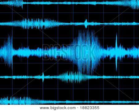 Digital sound wave image