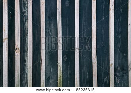 A wooden background with alternating boards of dark color and light bars