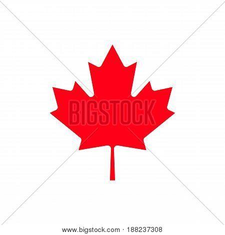 Canada maple leaf icon. Isolated on background. Vector illustration eps 10
