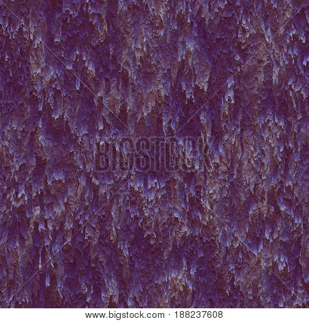 Seamless texture hanging down worn-out ripped rags purple cloth or paper. Pattern of rustic fabric material