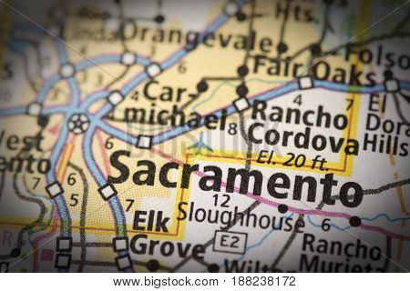 Sacramento On Map