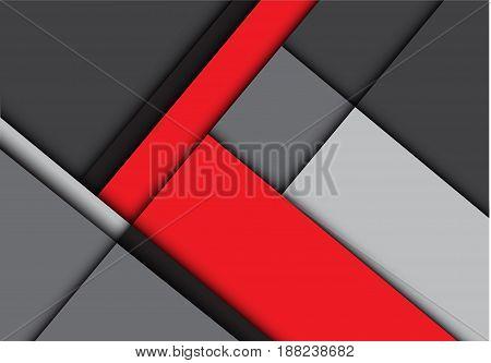 Abstract red gray overlap design modern background vector illustration.