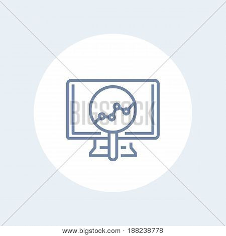 Analytics line icon isolated on white, eps 10 file, easy to edit