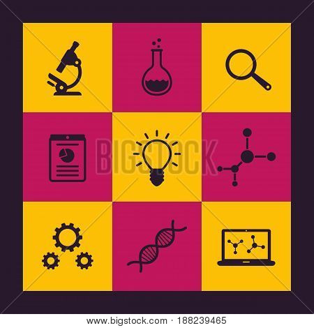 Science icons set, eps 10 file, easy to edit