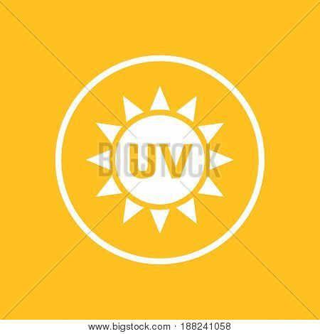 UV radiation icon in circle, eps 10 file, easy to edit