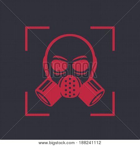 gas mask, respirator icon, biohazard symbol, eps 10 file, easy to edit