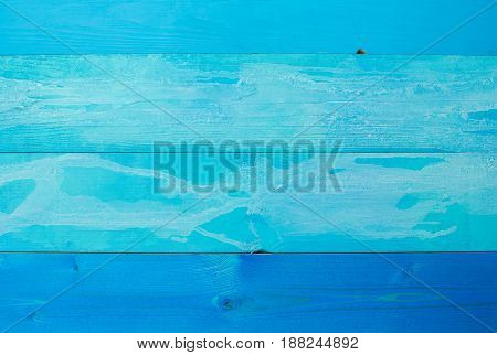 Blue background. Wooden blue horizontal boards background. Empty for design.